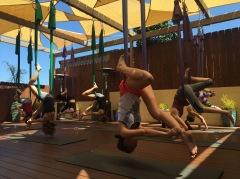 Aerial yoga at Elka yoga