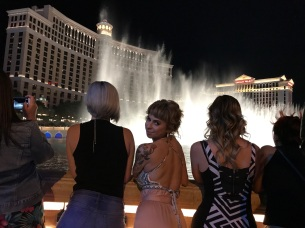 Watching the fountains with the first-timers